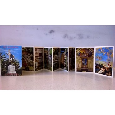 12 Καρτ Ποστάλ αναδιπλούμενες - Κέρκυρα Αχίλλειον - σε καλή κατάσταση