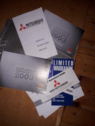 Bakı şəhərində Mitsubishi outlander 2003 model ucun kitabcasi