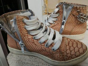 Bez cipele - Srbija: Decije cipele, kozne sa lancima, ocuvane, bez ostecenja, br.33