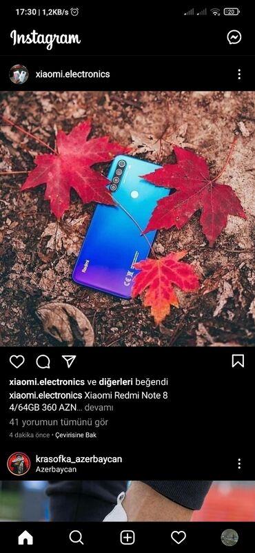 İşlənmiş Xiaomi Redmi Note 8 64 GB göy