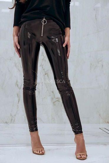 Kozne-patalone-crvene-broj - Srbija: Lakovane kozne pantalone NOVO!*Novi modeli*Dostupne crne, krem i