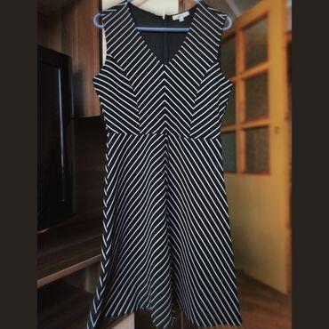 Лёгкое стильное платье-зебра размера L (46-48), состояние новой вещи