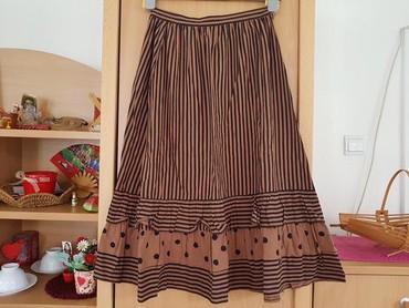 Zimska mini karirana suknja poluobim struka je - Srbija: Poluobim struka je 32cm a duzina je 75cm,Xs