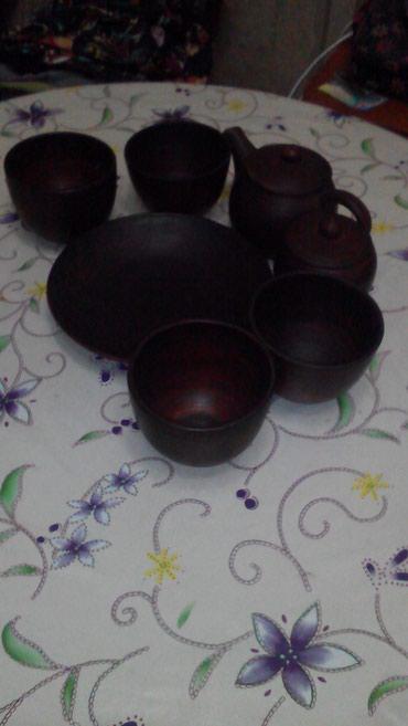 Продаю чайный сервиз ручной работы из 7 предметов в Бишкек