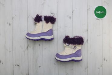 Дитячі утеплені чобітки De@De, р. 30   Довжина підошви: близько 22 см