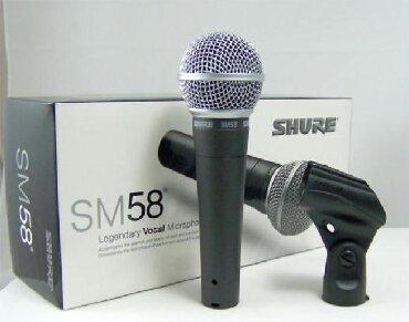 Mikrofonlar Azərbaycanda: Mikrafon Shure sm58 teze qutuda say choxdur