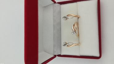 комплект из красного золота 585 проба. С бриллиантами в Бишкек