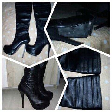 Nove kožne čizme, br. 35, prelepe użivo... - Krusevac
