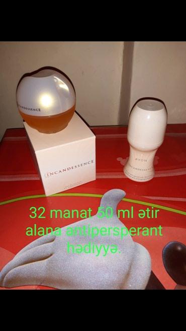 Bakı şəhərində Satılır 32 manat ətir alana antipersperant hədiyyə.Original.