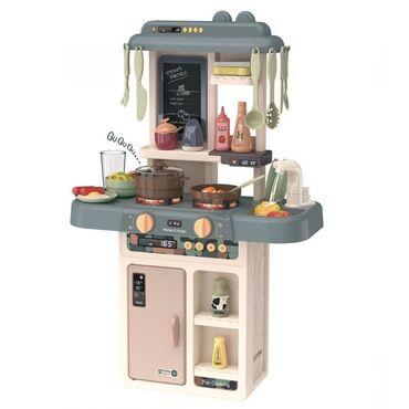 Детский кухонный гарнитур из 36 предметов.Есть огни, звуки и можно