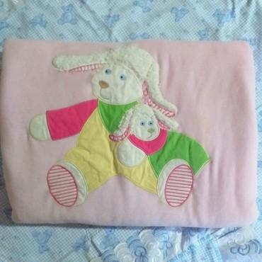 шерстяное одеяло меринос в Кыргызстан: Велюровое одеяло-конверт детское