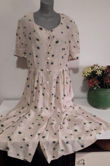 Letnja duga haljina vel 44/46, od tzv. indijskog platna, pastelnih