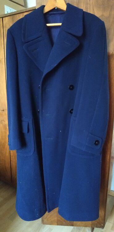 Пальто мужское продается.Цвет тёмно-синий. Размер 54, длинное