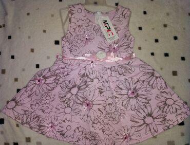 74 - Srbija: Nove haljinice, roze 80, ljubicasta 74 (odgovara 80/86) Cena po komadu