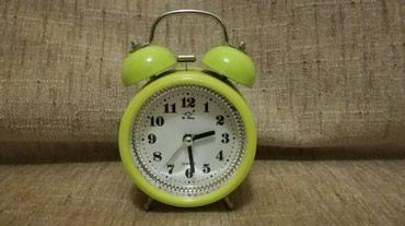 Ξυπνητήρι ΡΕΤΡΟ πράσινο, επιτραπέζιο, σε Nea Smyrni