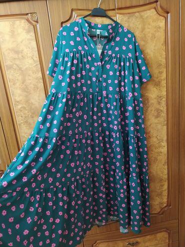 турецкая новая платье в Азербайджан: Новое платье. Размер 4хл. Объем груди 150см. Производство Турция