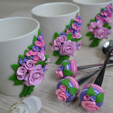 Очень нежные кружечки с букетами роз!!! в Бишкек