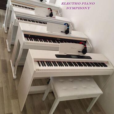 Musiqi alətləri - Azərbaycan: Yeni model elektron pianolar Simfoniya brendi. Klaviatura növü: 88