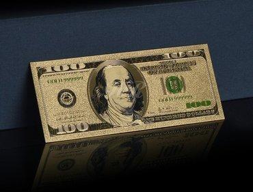 100 dolara, pozlaćena, REPLIKA, Lucky Dollar  Fantastično urađena - Beograd