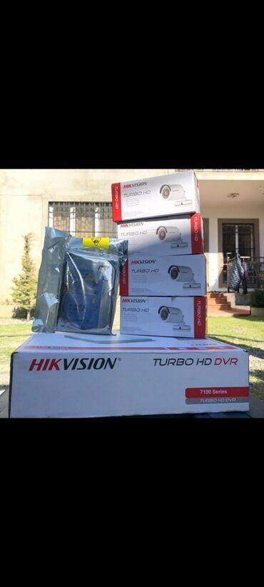 Hikvision👍 • kampaniya-390azn 4 -turbo hd camera hikvision-dahua1 -dvr