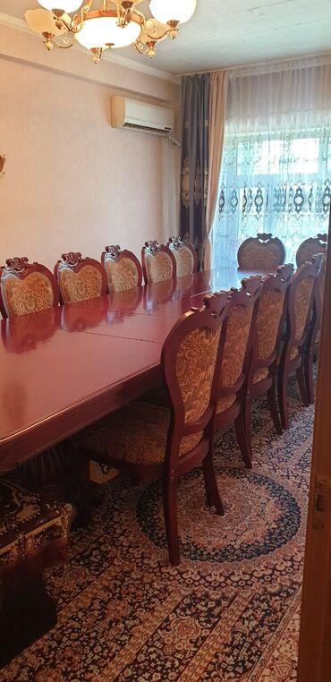 продам мебель бу in Кыргызстан | МЕБЕЛЬНЫЕ ГАРНИТУРЫ: Продаю шикарный, массивный гостевой стол из дорогого красного дерева в