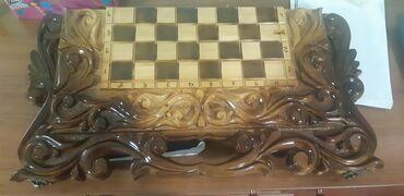 Нарды - Кыргызстан: Продается нарды+шахматы ручной работы. Новый. Отличный подарок