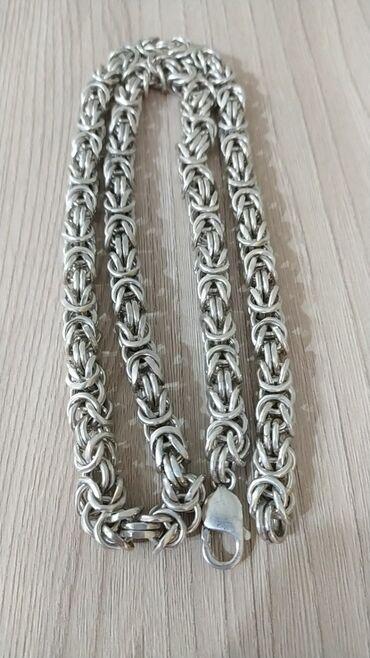 sergi iz serebra 925 в Кыргызстан: Продаю серебряную цепочку 925 пробы, длина 60см, вес 140г, ширина 8мм