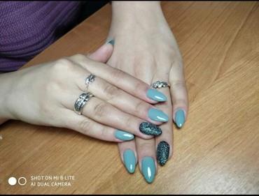 шеллак маникюр наращивание ногтей в Кыргызстан: Маникюр шеллак 500сом наращивание ногтей 650сом все дизайны