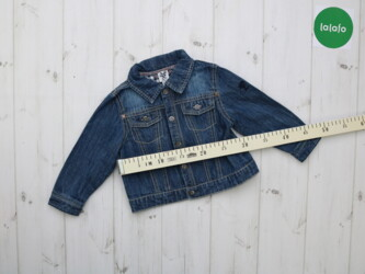 Детская джинсовая куртка Chicco, возраст 18 мес.    Длина: 30 см Рукав