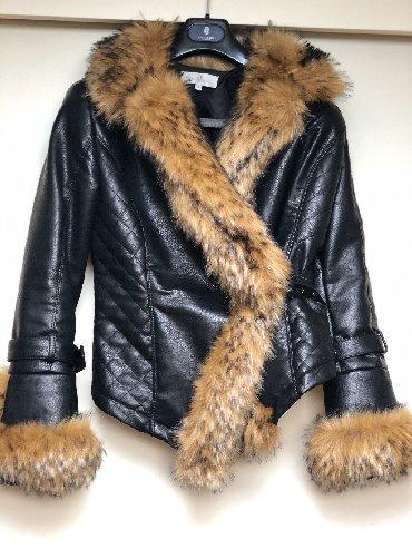 Lisca sa - Srbija: Kozna jakna sa krznom. Velicina M