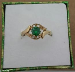 Кольцо с бриллиантами и изумрудами в Бишкек