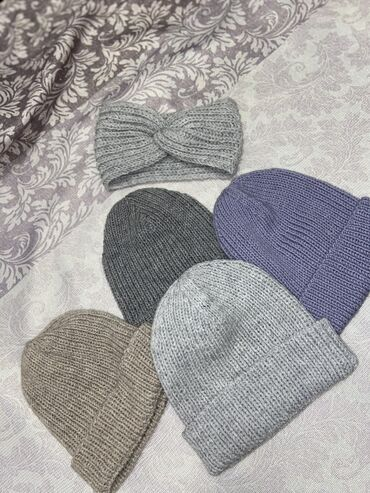 Вязанные шапки, ручная работа, турецкая вязка, нежные красивые цвета