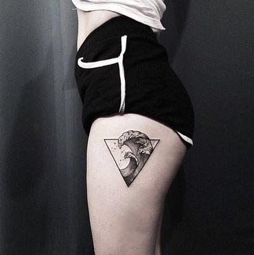 Татуировки минимализм! На выезд! в Бишкек