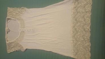 Bela-haljina-sa-cipkom - Srbija: Bela bluza sa cipkom pamuk