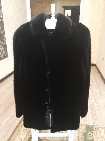 черная длинная футболка мужская в Кыргызстан: Новая черная мужская норковая шуба. Производство Канада, размер 52, д