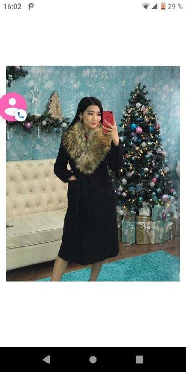 женские-пальто в Кыргызстан: Продаю пальто кашемир/шерсть,мех съёмный,46-48 2500