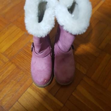 Dečije Cipele i Čizme - Majdanpek: Postavljene cizme br.26Veoma tople,desna malo oguljena napred,vidi se