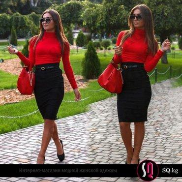 Юбочный костюм черно-красного цвета в Бишкек