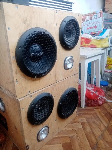 Динамики и музыкальные центры в Сокулук: Продаю корпуса под колонки из фонеры 18мл., под нч 30л чистый объем