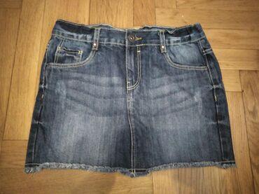 Suknje | Srbija: Teksas suknjica, kao nova. Vel. 152