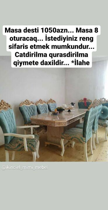 oturacaq - Azərbaycan: Masa desti 1050azn. Masa 8 oturacaq. İstediyiniz reng sifaris