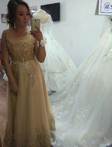 вечернее платье ручной работы в Кыргызстан: Продаю или на пракат вечернее платья очень красивое. ручная работа вс