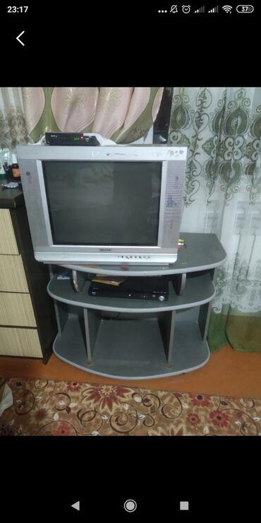 ТВ и видео - Беловодское: Продаю телефизор Санарит Дивиди Подставка для телевизора всё работает