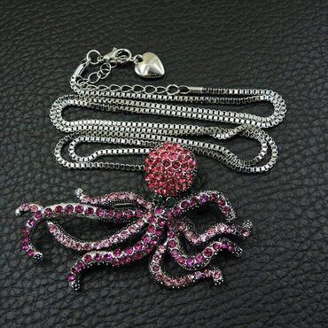 1000din Betsey Johnson Octopus Privezak/bros: 7 x 5cm Lanac: 70cm