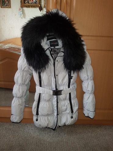 женский пуховик с капюшоном в Кыргызстан: Пуховик на зиму. мех на капюшоне натуральный.размер-s