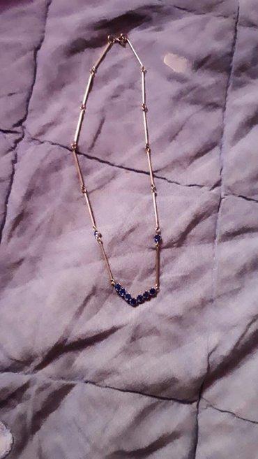 Ασημένιο κολιέ.. με μπλε διαμαντακια!!   (στειλτε μήνυμα!! ) σε Laurium