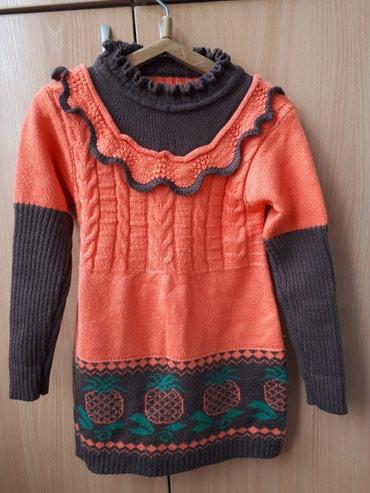Трикотажное платье для девочки 6-7 лет, рост 126 см в Бишкек