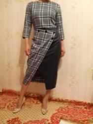 длинные платья из турции в Кыргызстан: Офисное платье. Производство Турция. Размер 40 или 46 наш. Длина ниже