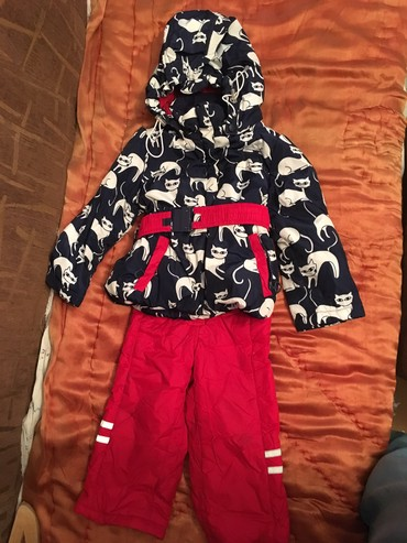 детские куртки комбинезоны в Кыргызстан: Детский комбинезон +куртка Kikoразмер 80 см в отличном состояниина
