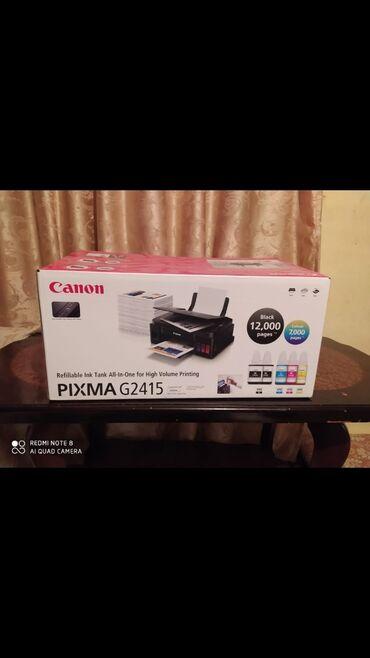 Printerlər - Azərbaycan: Canon pixma G2415 hecbir problemi yoxdu yaxwi rengli wekil cixardir